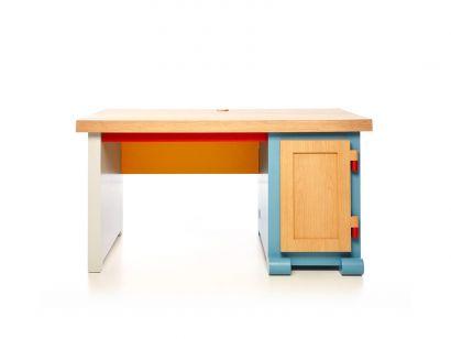 paper desk blue