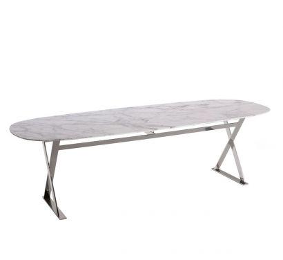 Pathos Table Elliptical Marble 190