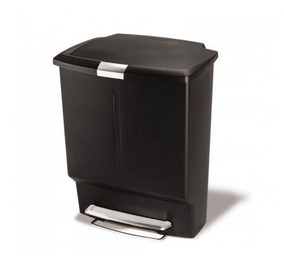 Rectangular Recycler Black Rubbish Bin