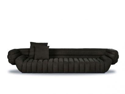 Tactile Three Seater Sofa - Cloister Mud Leather