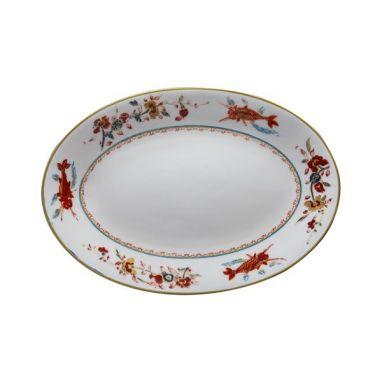 Chinesi e Fiori Finiti Plat Ovale 26 cm x 17,5 cm