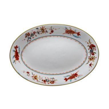 Chinesi e Fiori Finiti Plat Ovale 32 cm x 21 cm
