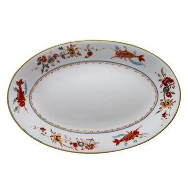 Chinesi e Fiori Finiti Plat Ovale 45 cm x 31,5 cm