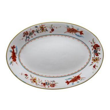 Chinesi e Fiori Finiti Plat Ovale 37 cm x 26,5 cm