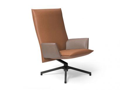 Pilot Soft Chair - High Backrest - Leather 0945 Tan/Monoplane