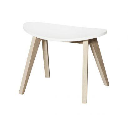 PingPong Stool for Kids-Oak/White
