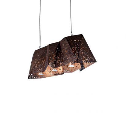 Plywood Chandelier Suspension Lamp