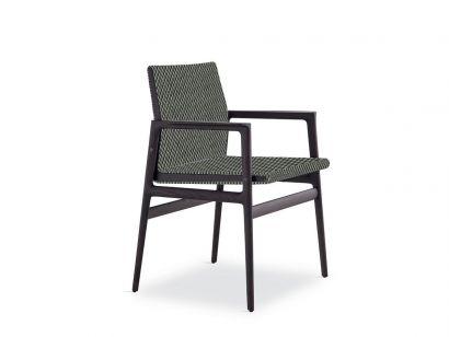 Ipanema Chaise avec Accoudoirs - Cemento 7 / Orme Noir