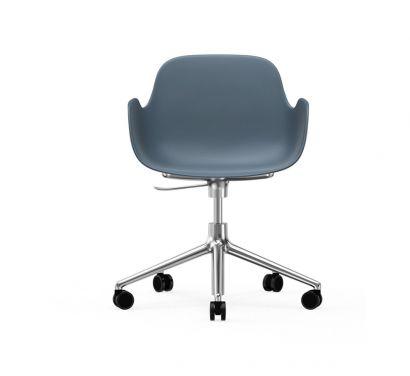 Form Swivel Armchair with Castors
