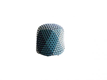 Tramae Outdoor Pouf - 46,5 cm / Night Blue Interlacing