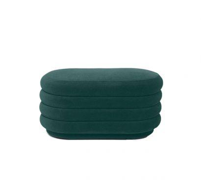 Pouf Ovale - Verde Scuro