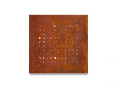 Qlocktwo Clock - Classic Creator's Edition Rust