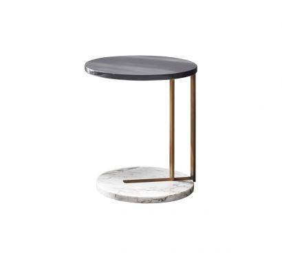 Ralf Side Table - Bronzed/Calacatta/Elephant
