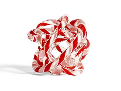 Knot No.2 - M Ø. 15 cm - Red and White