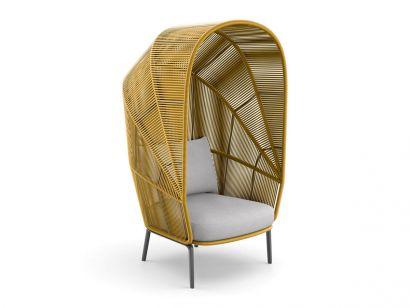 Rilly Cocoon Chair Dedon by Gamfratesi