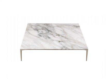 Tray Coffee Table - Calacatta Marble/Palladio 110 x 100