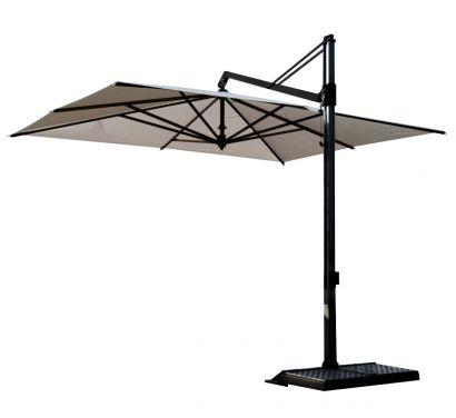 Rodi Umbrella 300x300 Natural - Base Graphite
