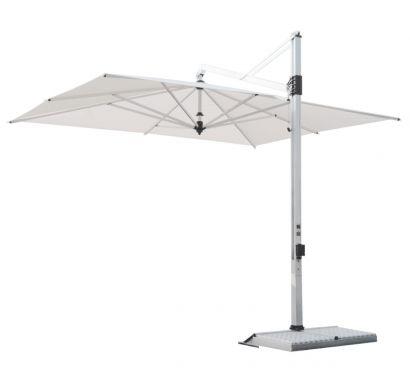 Rodi parasol 350x350 tissu blanc - base blanche
