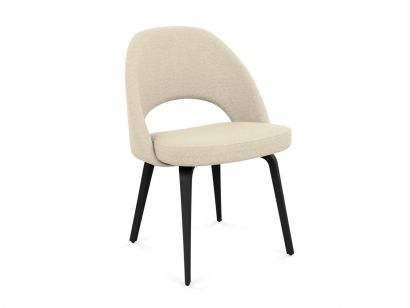 Saarinen Conference Fauteuil - Chêne Noirci / Curly 02CU Ivory