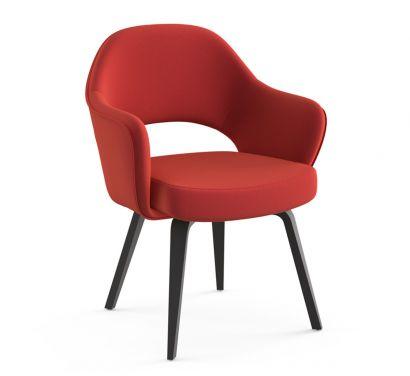 Saarinen Conference petit fauteuil - jambes en chêne