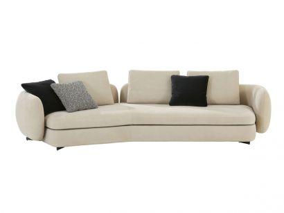 Saint-Germain Boomerang Sofa - Fabric cat. G Siro 01 White