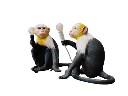 Monkey Seated Table Lamp Outdoor Limited Edition
