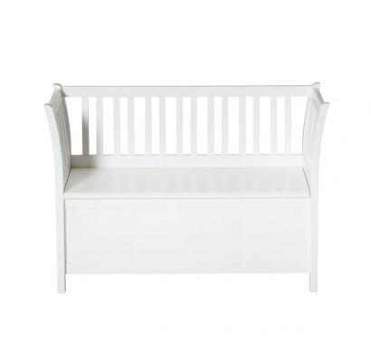 Seaside Kids Bench Storage-White