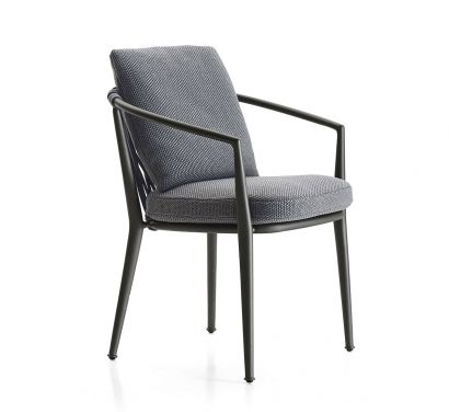 Erica Outdoor Chair with Armrest - Stackable