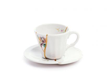Kintsugi Coffee Cup with Saucer 09643