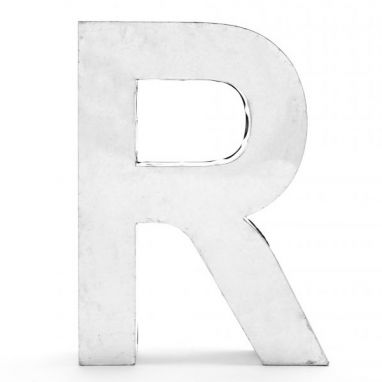 Metalvetica - Letter R in Metal / Large