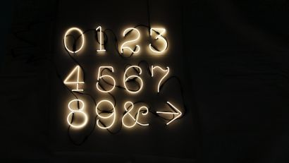 Neon Art Lamp - Numbers