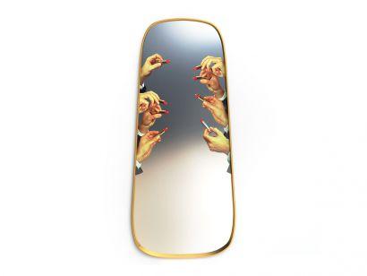 Framed Floor Mirror - Lipstick