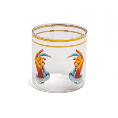 Hands With Snakes Glass Water