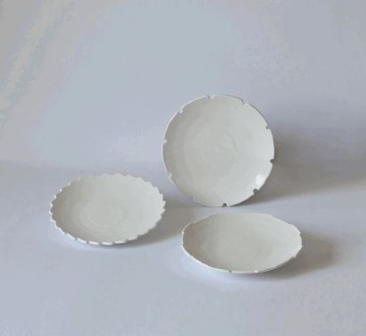 """Set 3 Soup Plates """"MACHINE COLLECTION"""" cod 10914"""