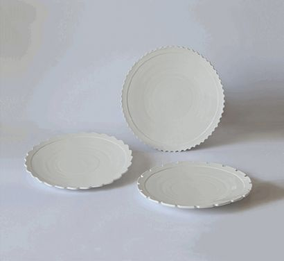 "Set 3 Dinner Plates ""MACHINE COLLECTION"" cod 10915"