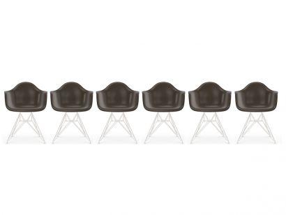 Eames Fiberglass Armchair DAR - White Base Vitra