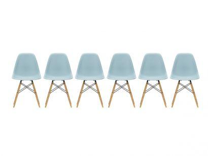 Eames Plastic Side Chair DSW - Sedia Acero Giallastro Vitra