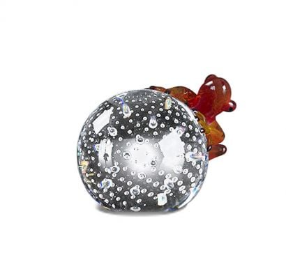Sphere with Frog Red - Decorative Object