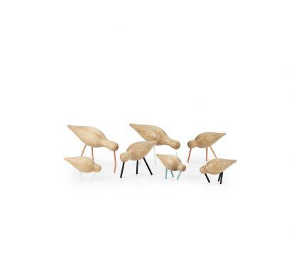 Shorebird Decorative Object - Oak