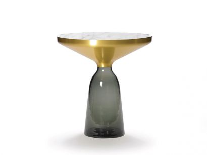 Bell SIde Table Quartz Grey/Top Carrara Marble