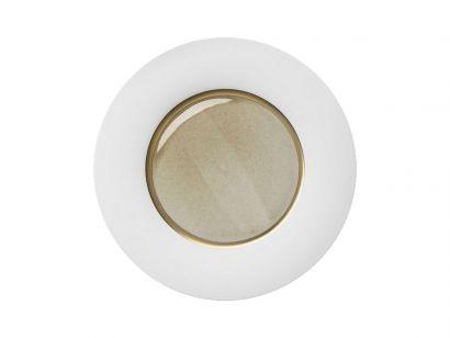 Silent Brass Gold Dinner Plate