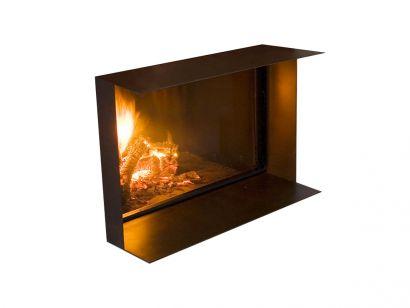 Skema Encased Wood Burning Thermo Fireplace