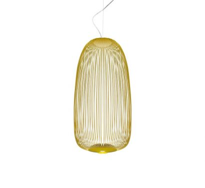 Spokes 1  Suspension Lamp Yellow On-Off
