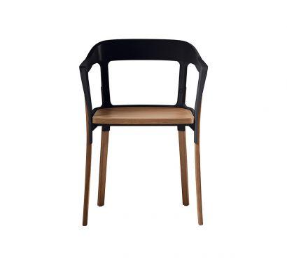 Steelwood chair Noce Magis