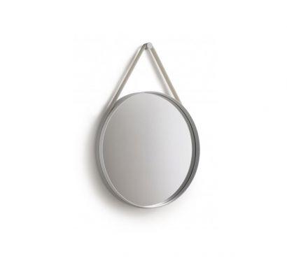 Strap Mirror Specchio Parete Ø 50 Grigio