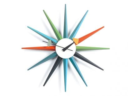 Sunburst Wall Clock - Multicolor