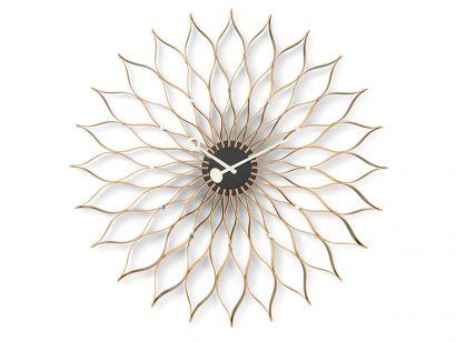 Sunflower Wall Clock - Birch