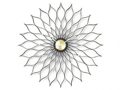 Sunflower Horloge Murale - Noir