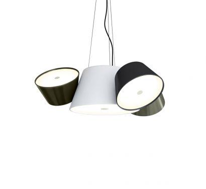 Tam Tam Mini Central White Suspension Lamp
