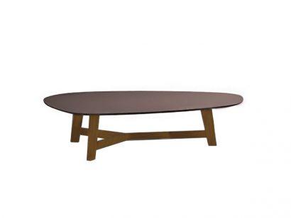 Phoenix Low Table 135X98 - Natural Oak / Laminam Sand Grey